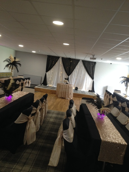 wedding event chair covers hoods bows lace sashes to hire