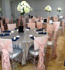 Silver Sequinned Table Cloths to Hire | Carlisle | Cumbria | Wedding | Event