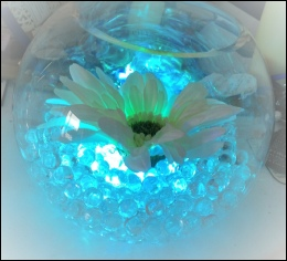 Bubble Bowl with LED Light & Flower to hire | Wedding | Events | North  Yorkshire | Carlisle | Cumbria |  Luxury Weddings