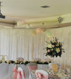 Pastel Chinese Lanterns - Pale Blue, Pink, Grey & White | Hire | Wedding & Events | Carlisle | Cumbria | Lake District | Hundith House | Cockermouth