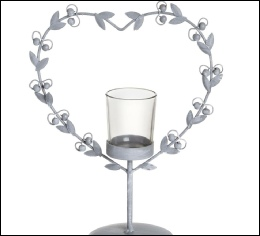 Grey Rustic Heart Tealight Holder to hire | Wedding | Events | Carlisle | Cumbria | Lake District | Gretna | North West