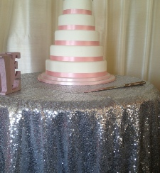 Silver Sequinned Table Cloth | Carlisle | Cumbria | Hire