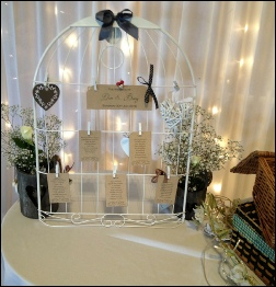 Bird Cage Table Plan to Hire with Pegs | Wedding & Events | Carlisle | Cumbria | Lake District