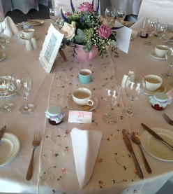 Vintage Rose Garden Table Runners | Hire | Wedding & Events | Carlisle | Cumbria | Lake District