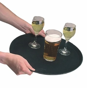 "14"" Round Anti-Slip Bar Trays to hire 