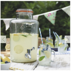 Water/Juice Dispenser 5 Litre Kilner Vintage Glass to Hire | Weddings | Events | Carlisle | Cumbria