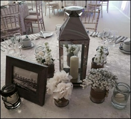 55cm Lantern with Flower Jars & Candles to hire | Wedding | Events | North  Yorkshire | Carlisle | Cumbria |  Luxury Weddings