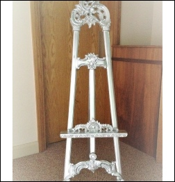 Silver Fancy Easel to Hire | Wedding & Events | Carlisle | Cumbria | Lake District