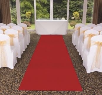Red Aisle Runner for indoor/outdoor use Weddings | Wedding | Carlisle | Cumbria | Lake District | Gretna