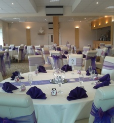 Purple Napkins | Carlisle | Cumbria | Hire | wedding | Events | Gilsland Hall Hotel