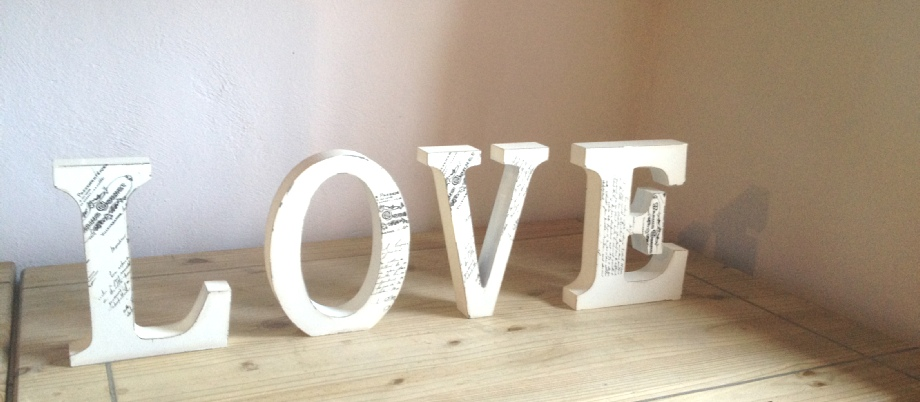 LOVE sign to Hire for Weddings | Rustic | Vintage | Carlisle | Cumbria | Lake District | Gretna