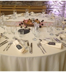 Buttermilk Tablecloth | Carlisle | Cumbria | Lake District | Hire | wedding | Events | Roses & Hearts