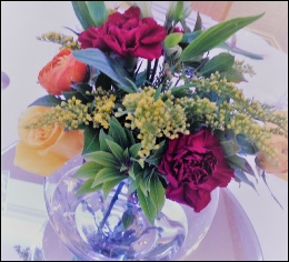 Bubble Bowl with Fresh Flowers | Wedding | Events | Carlisle | Cumbria | North West | Lake District | Gretna | Dumfries
