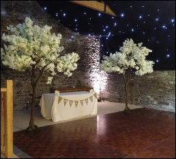 9ft Ivory Blossom tree with fairy lightsr to Hire| Rustic | Luxury | Bespoke |  New House Lorton barn Wedding & Events | Carlisle | Cumbria | Lake District | Newcastle | Manchester